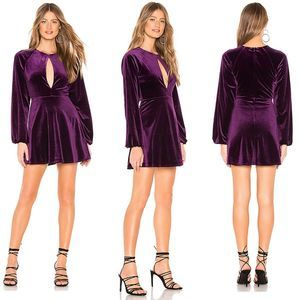 NWT Lovers + Friends Revolve velvet mini dress